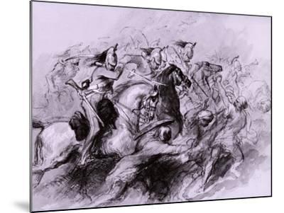 A Cavalry Charge, 1849-John Gilbert-Mounted Giclee Print