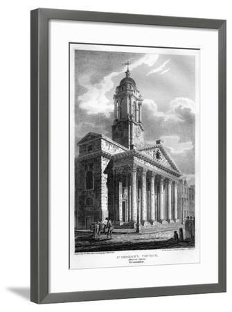 St George's Church, Hanover Square, Westminster, London, 1810-John Le Keux-Framed Giclee Print