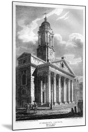 St George's Church, Hanover Square, Westminster, London, 1810-John Le Keux-Mounted Giclee Print