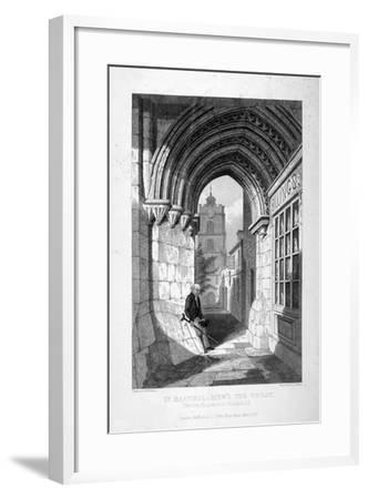 Western Entrance to the Church of St Bartholomew-The-Great, Smithfield, City of London, 1837-John Le Keux-Framed Giclee Print