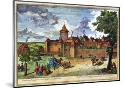 Hospital Gate, Nuremberg, Germany, 17th or 18th Century-John Adam-Mounted Giclee Print