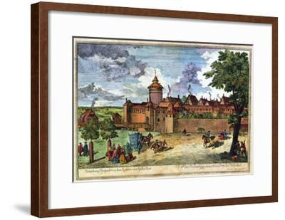 Hospital Gate, Nuremberg, Germany, 17th or 18th Century-John Adam-Framed Giclee Print