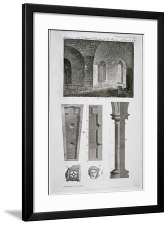 Interior View of the Remains of the Church of St Martin's Le Grand, City of London, 1818-John Chessell Buckler-Framed Giclee Print