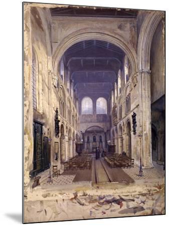 Interior of St Bartholomew's Priory, London, 1880-John Crowther-Mounted Giclee Print
