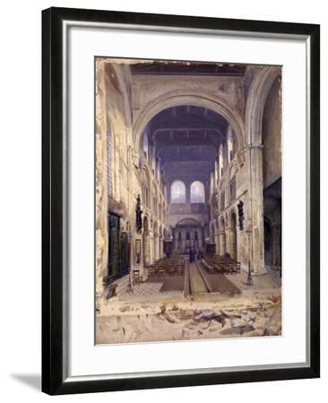 Interior of St Bartholomew's Priory, London, 1880-John Crowther-Framed Giclee Print
