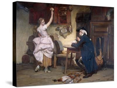 Flirtation, 1885-John Francis Rigaud-Stretched Canvas Print