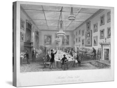 Interior of the Thatched House Tavern, St James's Street, London, C1840-John Le Keux-Stretched Canvas Print