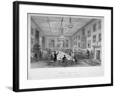 Interior of the Thatched House Tavern, St James's Street, London, C1840-John Le Keux-Framed Giclee Print