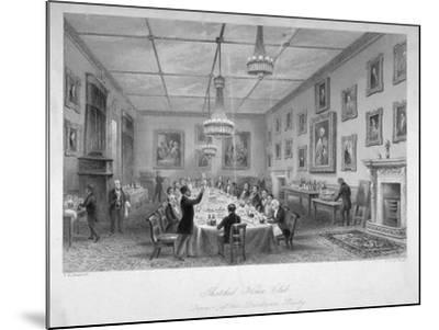 Interior of the Thatched House Tavern, St James's Street, London, C1840-John Le Keux-Mounted Giclee Print