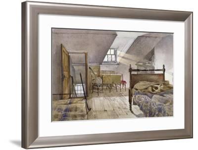 Interior View of Marshalsea Prison, Borough High Street, Southwark, London, 1887-John Crowther-Framed Giclee Print