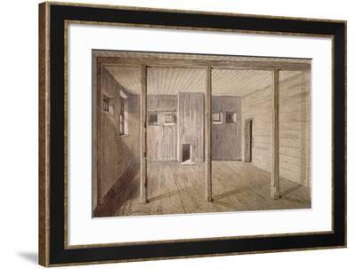 Interior View of White Lyon Prison, Borough High Street, Southwark, London, 1887-John Crowther-Framed Giclee Print