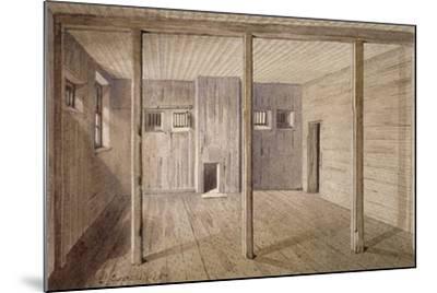 Interior View of White Lyon Prison, Borough High Street, Southwark, London, 1887-John Crowther-Mounted Giclee Print