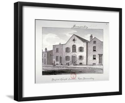 View of the Baptist Chapel on Jamaica Row, Bermondsey, London, 1826-John Chessell Buckler-Framed Giclee Print
