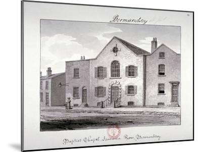 View of the Baptist Chapel on Jamaica Row, Bermondsey, London, 1826-John Chessell Buckler-Mounted Giclee Print