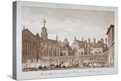 South-East View of Lambeth Palace from the Churchyard, London, 1828-John Chessell Buckler-Stretched Canvas Print