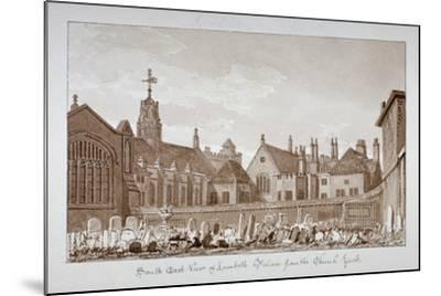 South-East View of Lambeth Palace from the Churchyard, London, 1828-John Chessell Buckler-Mounted Giclee Print