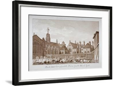 South-East View of Lambeth Palace from the Churchyard, London, 1828-John Chessell Buckler-Framed Giclee Print