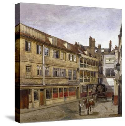 The George Inn, Borough High Street, Southwark, London, 1880-John Crowther-Stretched Canvas Print