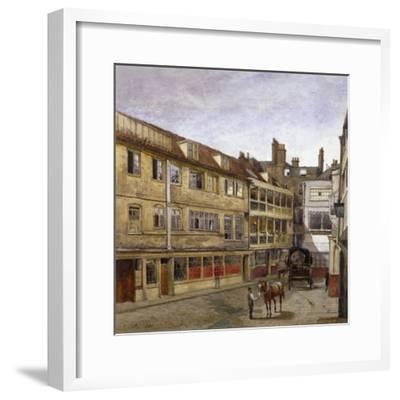 The George Inn, Borough High Street, Southwark, London, 1880-John Crowther-Framed Giclee Print