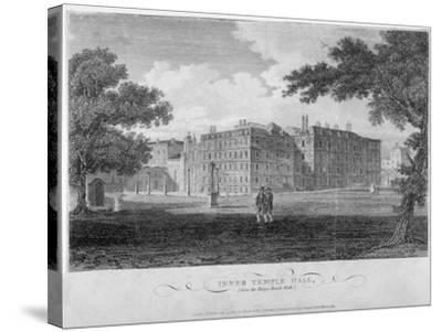 View of Inner Temple Hall from King's Bench Walk, City of London, 1804-John Greig-Stretched Canvas Print