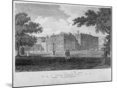 View of Inner Temple Hall from King's Bench Walk, City of London, 1804-John Greig-Mounted Giclee Print