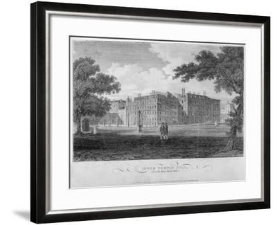 View of Inner Temple Hall from King's Bench Walk, City of London, 1804-John Greig-Framed Giclee Print