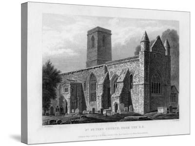 St Peter's Church, from the South-East, Oxford, 1833-John Le Keux-Stretched Canvas Print