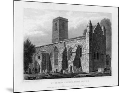 St Peter's Church, from the South-East, Oxford, 1833-John Le Keux-Mounted Giclee Print