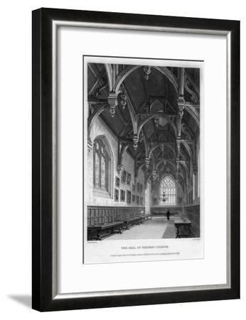 The Hall of Wadham College, Oxford University, 1836-John Le Keux-Framed Giclee Print
