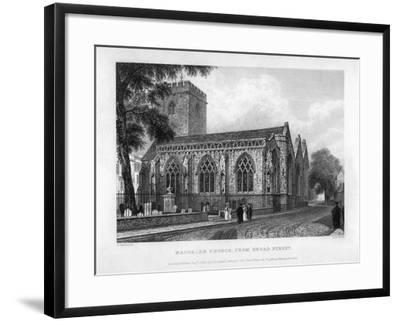 Magdalen Church, from Broad Street, Oxford, 1833-John Le Keux-Framed Giclee Print