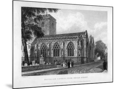Magdalen Church, from Broad Street, Oxford, 1833-John Le Keux-Mounted Giclee Print