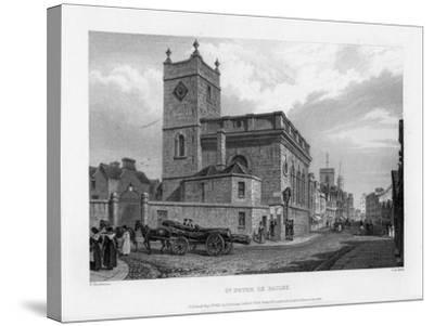 Church of St Peter Le Bailey, Oxford, 1835-John Le Keux-Stretched Canvas Print