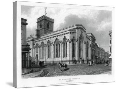 St Martin's Church, Carfax, Oxford, 1835-John Le Keux-Stretched Canvas Print