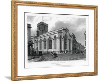 St Martin's Church, Carfax, Oxford, 1835-John Le Keux-Framed Giclee Print