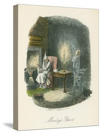 Scene from a Christmas Carol by Charles Dickens, 1843-John Leech-Stretched Canvas Print