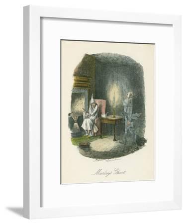 Scene from a Christmas Carol by Charles Dickens, 1843-John Leech-Framed Giclee Print