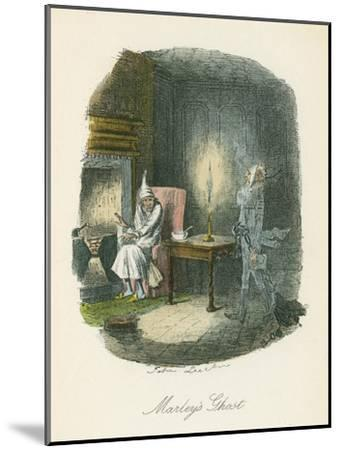 Scene from a Christmas Carol by Charles Dickens, 1843-John Leech-Mounted Giclee Print
