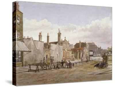 Skinners' Almshouses and Trinity Almshouses, Mile End Road, Stepney, London, 1883-John Crowther-Stretched Canvas Print