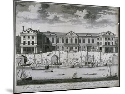 The Custom House from the River Thames, as it Was in 1714, 1715-John Harris-Mounted Giclee Print