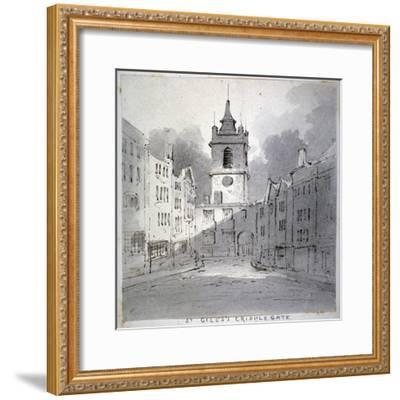 Church of St Giles Without Cripplegate from Fore Street, City of London, 1790-John Claude Nattes-Framed Giclee Print