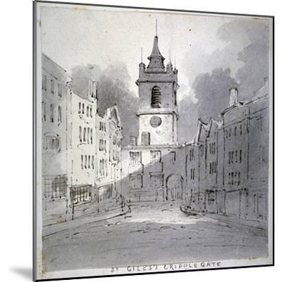 Church of St Giles Without Cripplegate from Fore Street, City of London, 1790-John Claude Nattes-Mounted Giclee Print