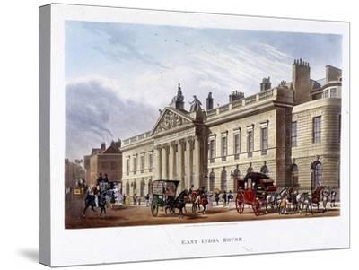 East India House, London, 1836-Joseph Constantine Stadler-Stretched Canvas Print