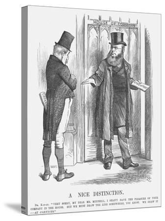 A Nice Distinction, 1875-Joseph Swain-Stretched Canvas Print