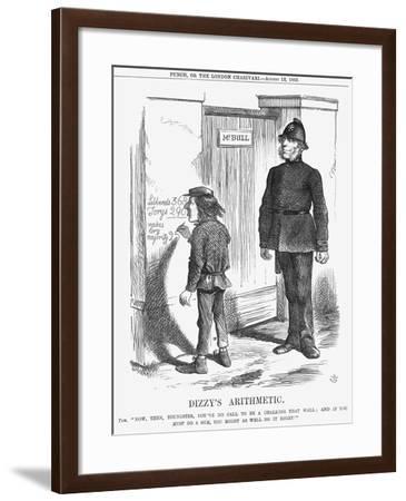 Dizzy's Arithmetic, 1865-John Tenniel-Framed Giclee Print