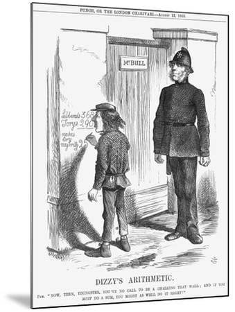 Dizzy's Arithmetic, 1865-John Tenniel-Mounted Giclee Print