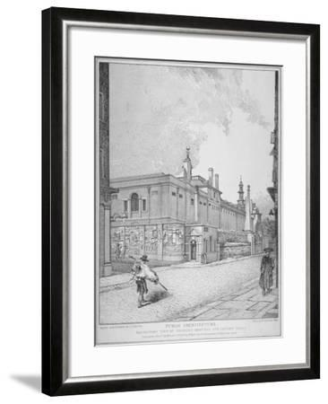 South-West View of Old Bethlehem Hospital, Moorfields and London Wall, City of London, 1814-John Thomas Smith-Framed Giclee Print