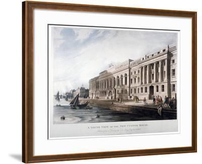 Custom House, City of London, 1817-Joseph Constantine Stadler-Framed Giclee Print