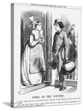 Going to the Country, 1868-John Tenniel-Stretched Canvas Print
