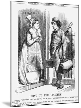Going to the Country, 1868-John Tenniel-Mounted Giclee Print