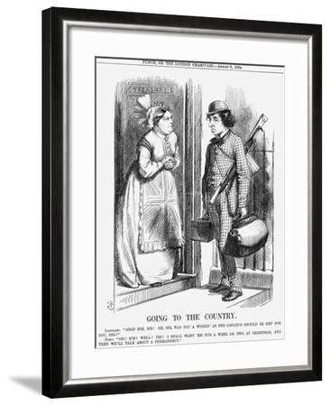 Going to the Country, 1868-John Tenniel-Framed Giclee Print